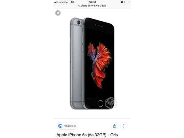 IPhone 6s gris de 32gb  - La Serena