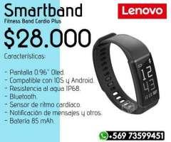 Smartband Lenovo Cardio Plus Negro - Valdivia