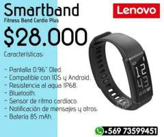 Smartband Lenovo + Audifonos Mi Sports YE - Valdivia
