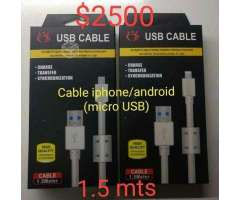 Cable Micro USB de Iphone y Android - Independencia