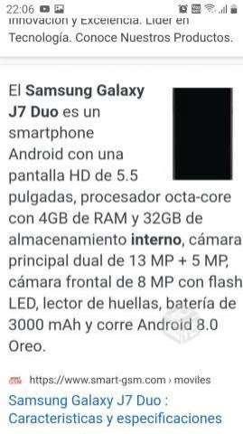 SAMSUNG j7 Duo - San Ramón
