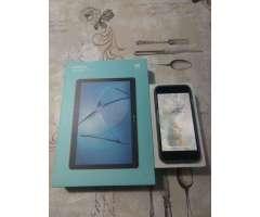 Permuto iPhone 7 mas tablet huawei - La Florida